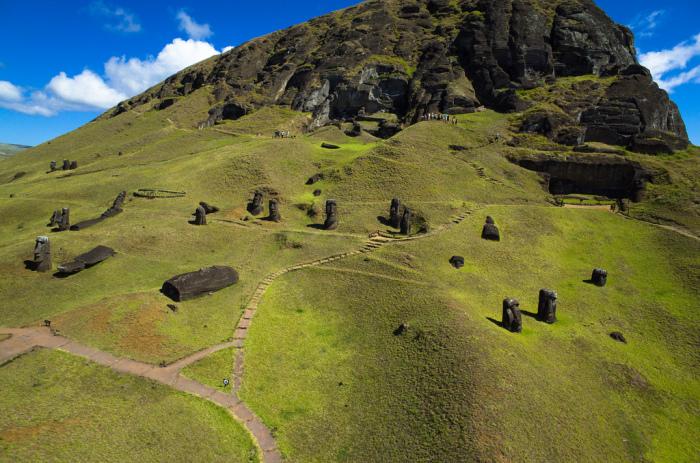 Аэрофотосъемка острова Пасхи. / Фото: www.flickr.com